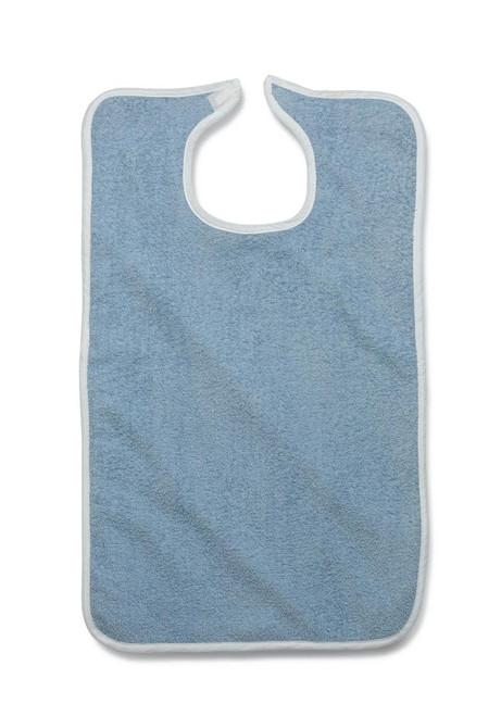 Medline MDTAB3B30WH (CS/2) PK/12 TERRY CLOTH BIBS, WHITE, VELCRO CLOSURE