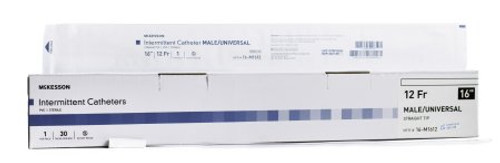 """MEDRX 65-5012 BX/100 INTERMITTENT CATH-RUBBER - 12FR - 16"""" MALE (MEDRX 65-5012)"""