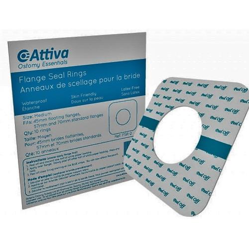 Ostomy Essentials FSR-2 Attiva FLANGE SEAL RINGS, MEDIUM (45MM, 57MM-70MM) PK/10