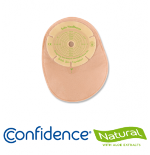 Salts NT13 BX/30 CONFIDENCE NATURAL WITH ALOE 1-PIECE STANDARD CLOSED TRANSPARENT Pouch, CUT-TO-FIT UP TO 70MM (SALT NT13)