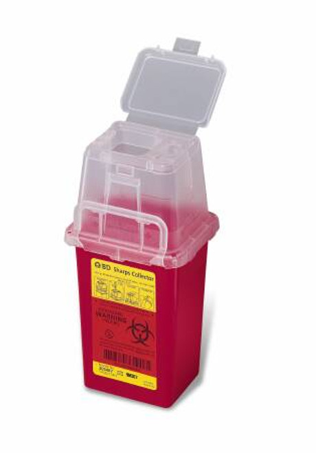 "BD 305451 CUP BRACKET FOR 1Q AND 1.4Q SHARPS COLLECTOR, W3"" X L4"" X H4"", BLACK"