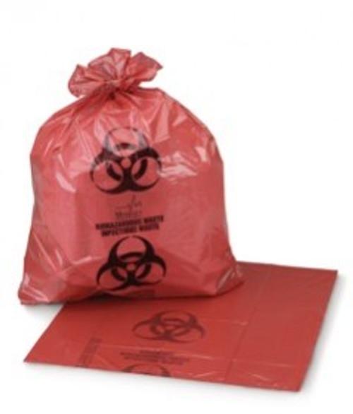 """MEDEGEN 2192 BIO-HAZARD GARBAGE BAG, RED, 24 X 32"""", CS/250"""