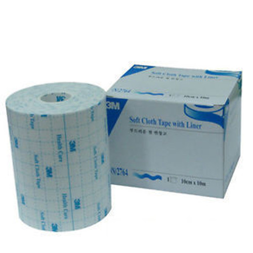 3M-2764-X TAPE ADHESIVE CLOTH MEDICAL 4in x 10.9yd w/S-SLIT LINER