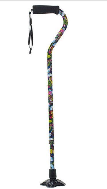 Mountain Properties 21007 OFFSET HANDLE CANE W/WRIST STRAP, HEIGHT 31-40IN. UP TO 250LBS., BUTTERFLY, EA/1