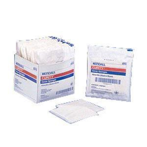 Kendall 2913 (CS24) BX/50 CURITY COVER SPONGE 4X4 STERILE (Kendall 2913)