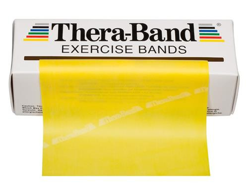 Thera-Band 20020 THIN EXERCISE BAND 5.5IN WIDTH, 6YDS, YELLOW, LATEX, Each