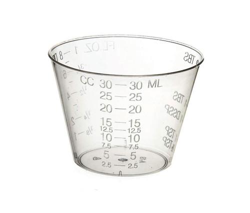 Medline DYNDX02763 GRADUATED PLASTIC MEDICINE CUP, 2OZ, CS/1840, Case