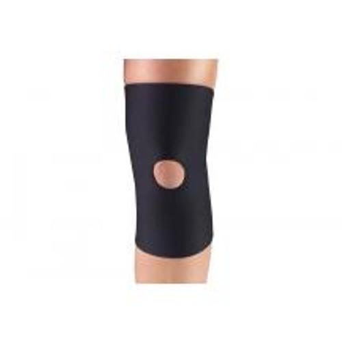 "Airway 0306BL-M CHAMPION NEOPRENE MINIMUM KNEE SUPPORT W/ OPEN PATELLA MD (14-15 1/4"") BLACK 4-WAY STRETCH, Each"
