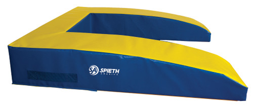 """The non-folding Vault Safety Zone surrounds the vaulting board, giving you a larger safety zone target area during round-off entry vaults.   Constructed of an 8"""" combination of polyethylene and polyurethane foams for added strength and durability and covered with strong, 18oz. PVC vinyl. Meets FIG specification.   Ships UPS or FedEx. ITEM NO: 5005-300"""