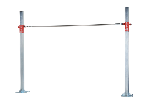 The Methodical Training Bar is suitable for small spaces and basic skill development. The quick release rail pin allows for easy change froma men's steel rail to a women's Carboflex wood rail (#2202205) without the use of tools.Shown with steel rail which comes with the product (#4140705).