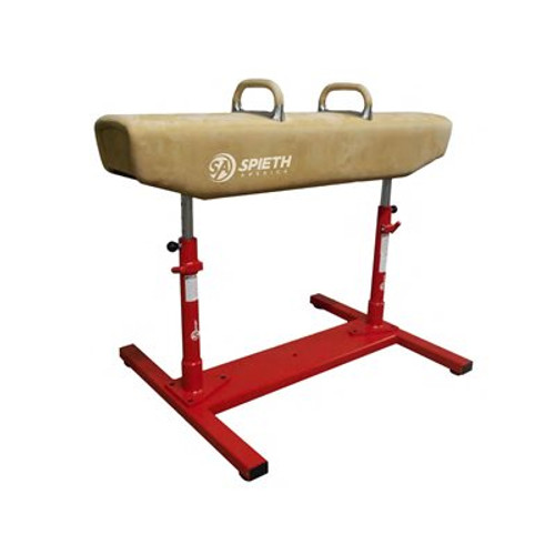 DEMO Competition Leather Pommel Horse with pedestal base and mat system free of charge