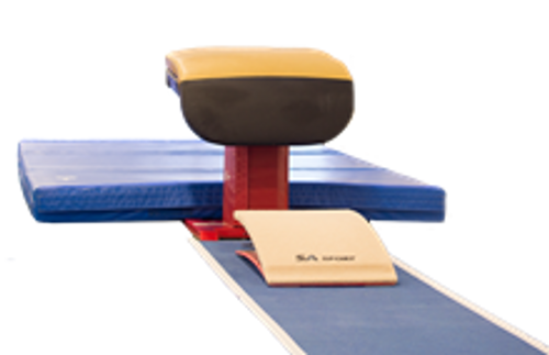 Competition Landing Mat -425 8' x 15.5' x 20cm - Hook and Loop Fastener Ends Only, Folding