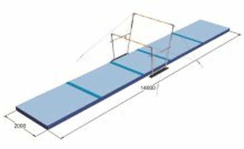 Uneven Bar Mat Set - FIG approved - from SPIETH Gymnastics (1565812)  18m (59' ) x 4m (13.1') x 20cm configuration