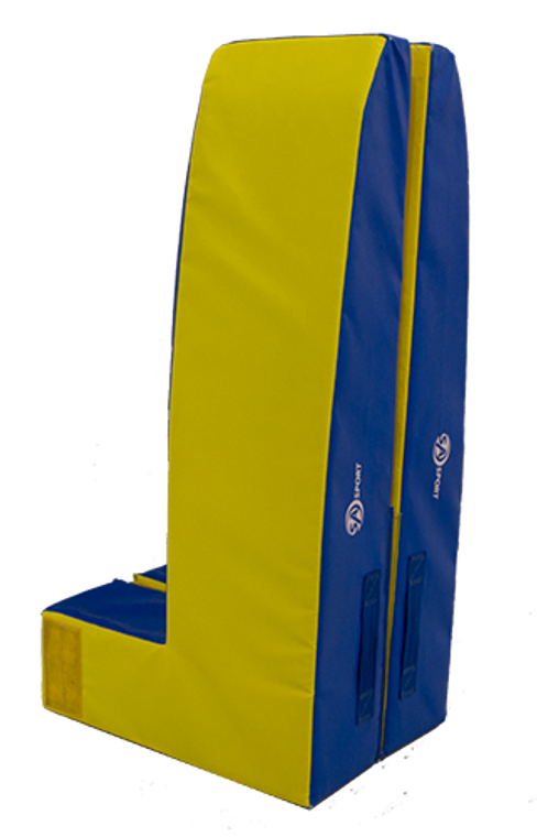 """The Vault Safety Zone surrounds the vaulting board, giving you a larger safety zone target area during round-off entry vaults.   Constructed of an 8"""" combination of polyethylene and polyurethane foams for added strength and durability and covered with strong, 18oz. PVC vinyl. Meets FIG specification. Disassembles into two sections for easy transport and storage.  Ships UPS or FedEx. ITEM NO: 5005-200"""