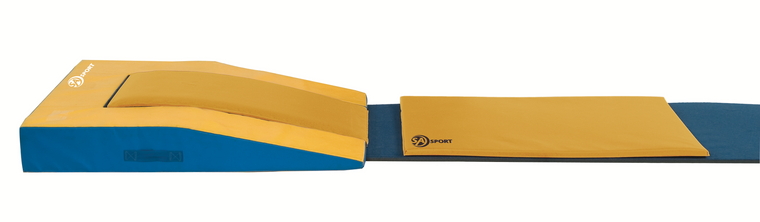 """Round-off Entry Pad surface provides a faster, non-slip response. Entry Pad hashook and loop fasteneron underside that hooks to the vault runway to prevent movement while in use.39 3/8"""" W x 47 1/4"""" L x 1"""" H"""