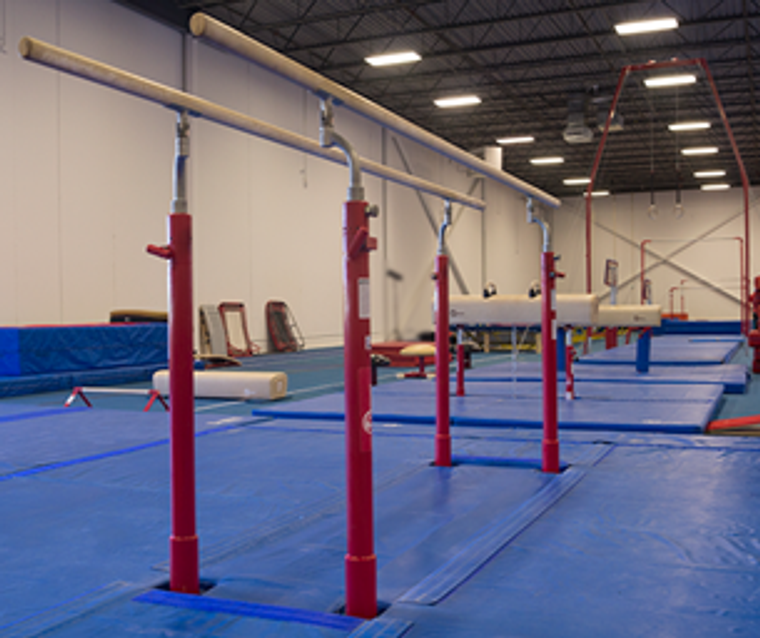 DEMO Performance Series Competition Parallel Bars. INCLUDES Mat System