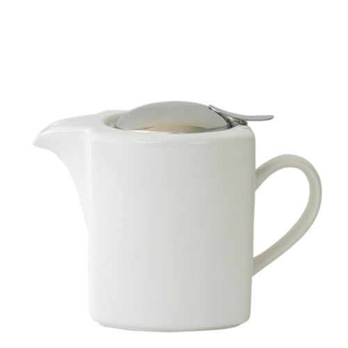 White Square Teapot 600ml