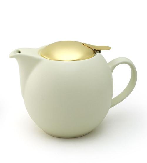Gelato Vanilla Universal Teapot 1000ml with Gold Lid