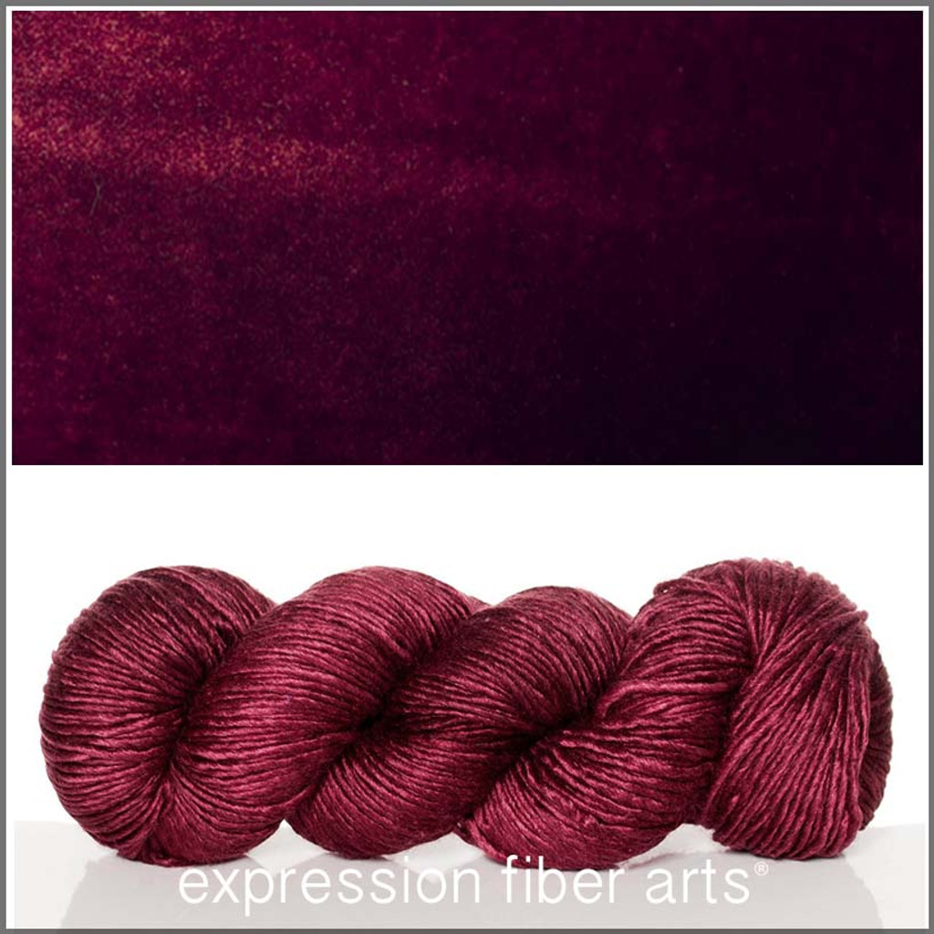 OXBLOOD 'PEARLESCENT' WORSTED