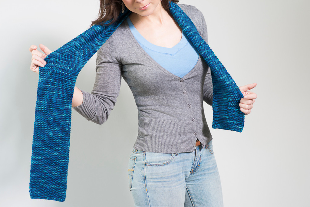 Beginner's Knitted Scarf Kit - Choose Your Color