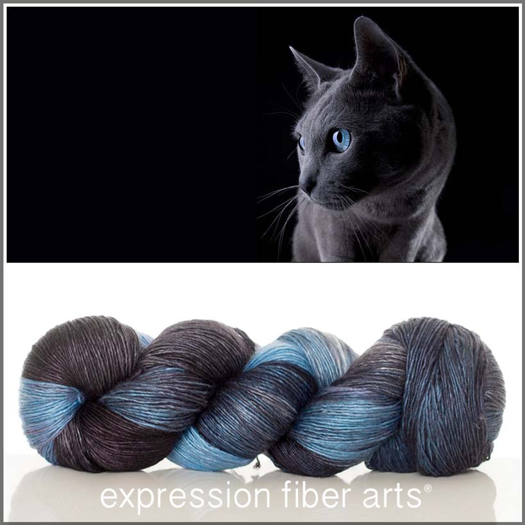RUSSIAN BLUE 'PEARLESCENT' FINGERING