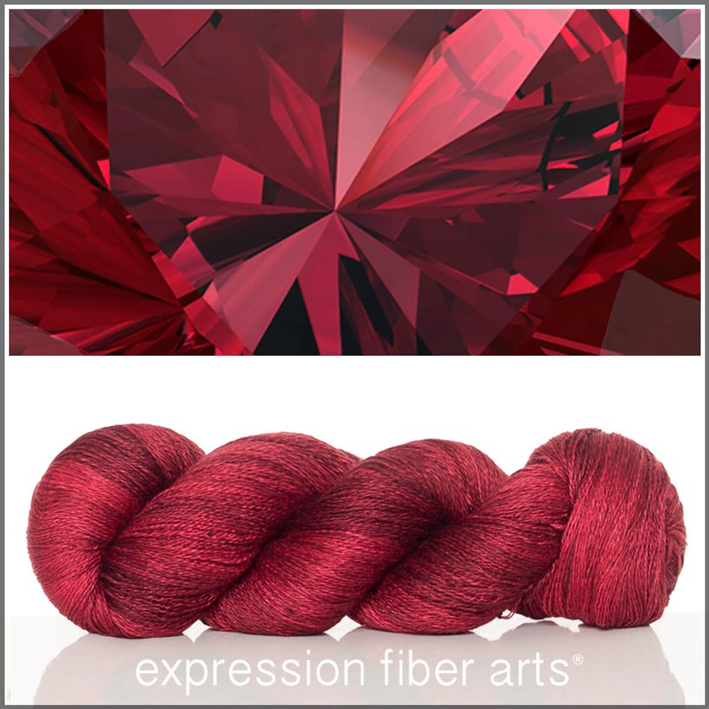 JANUARY GARNET 'YAK SILK' LACE