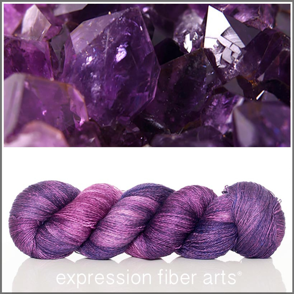 FEBRUARY AMETHYST 'YAK SILK' LACE