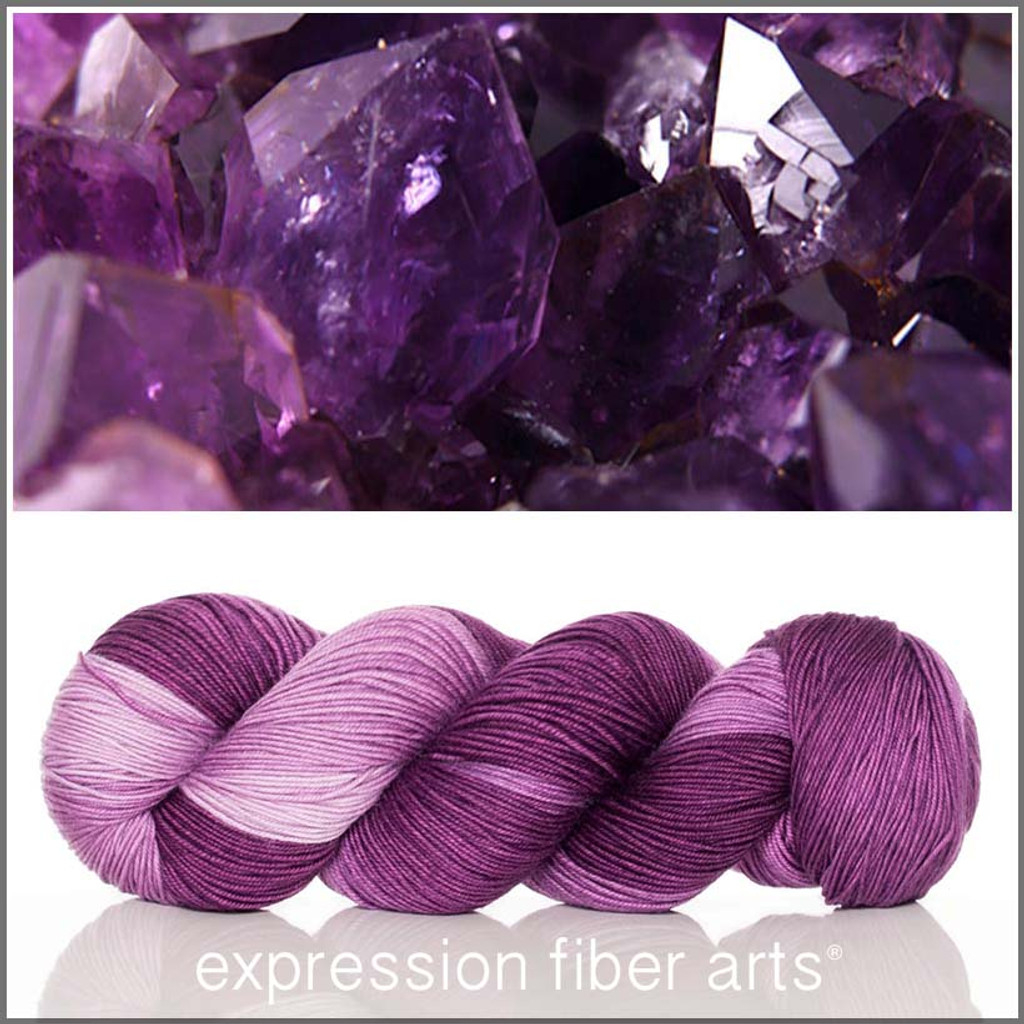 FEBRUARY AMETHYST 'RESILIENT' SOCK
