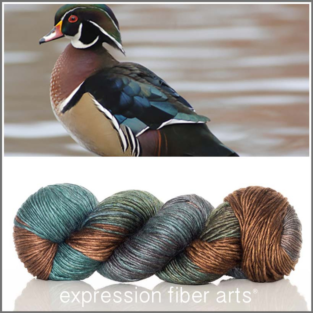 WOOD DUCK 'PEARLESCENT' WORSTED