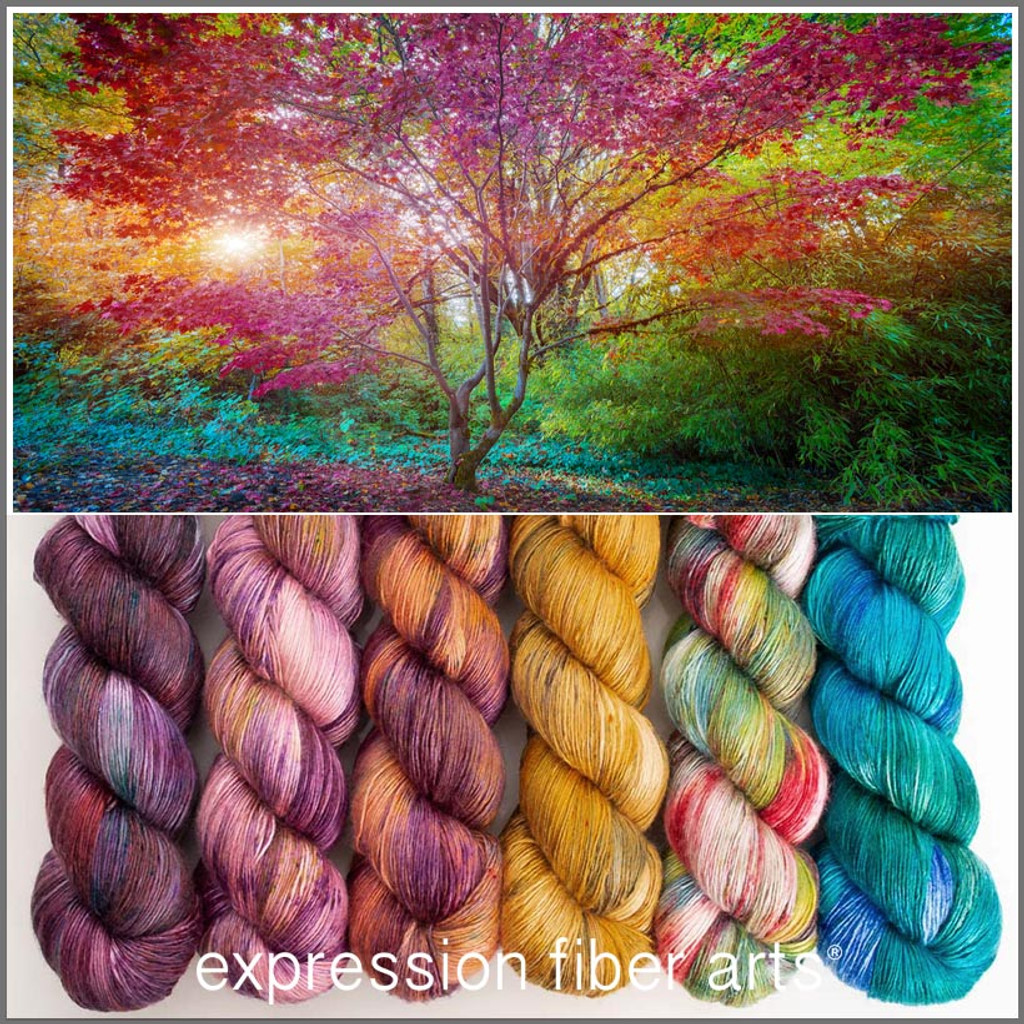 JAPANESE MAPLE HUES PEARLESCENT FINGERING KIT