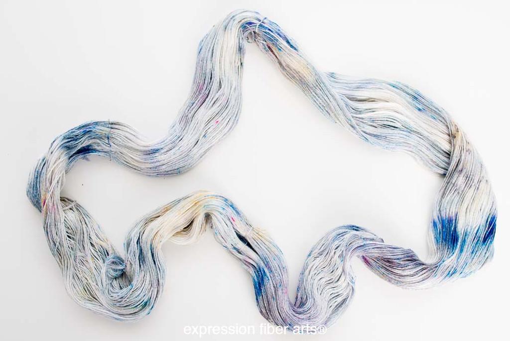 BLUE HYDRANGEAS YAK SILK LACE
