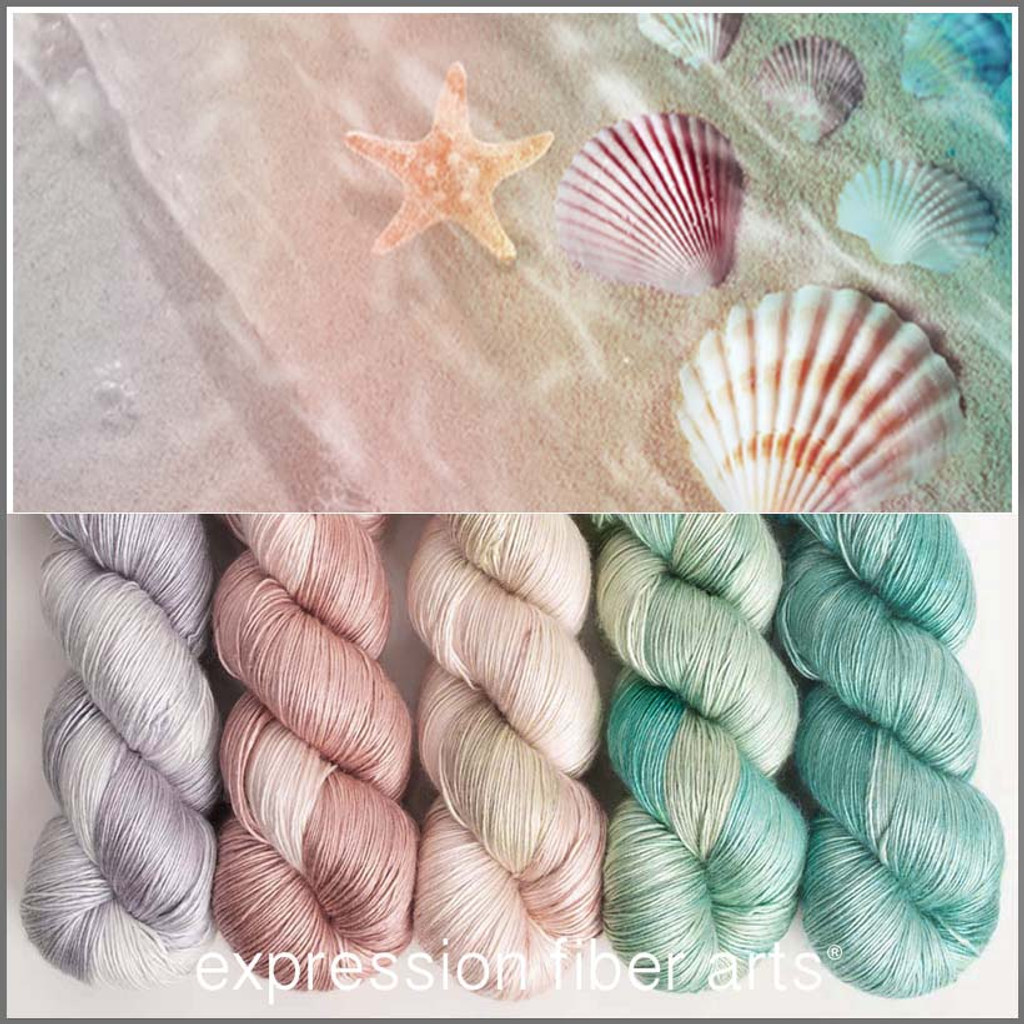 SEASHELL HUES PEARLESCENT FINGERING KIT