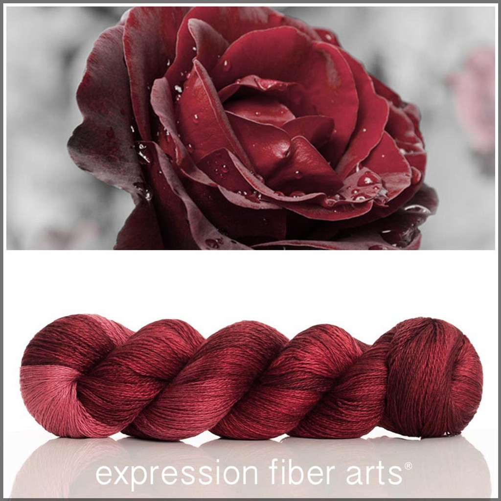 RED VELVET ROSE 'YAK SILK' LACE