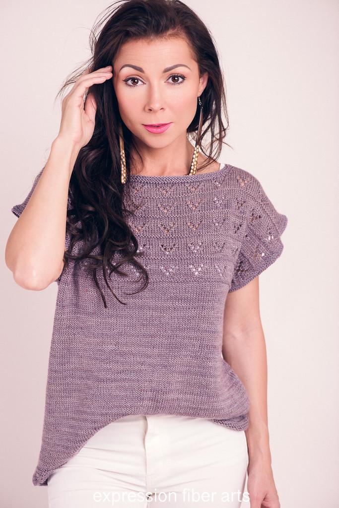 28e9d88128984 Hadi Tee - gorgeous knitted tee pattern