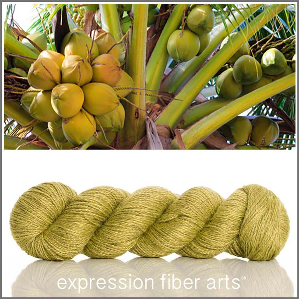 GREEN COCONUT Bamboo Alpaca Fingering