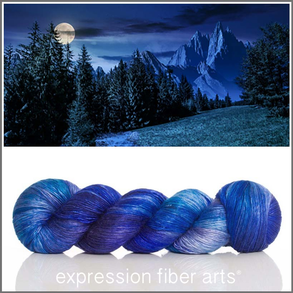 BY THE LIGHT OF THE SILVERY MOON Limited Edition 'PEARLESCENT' FINGERING 100g