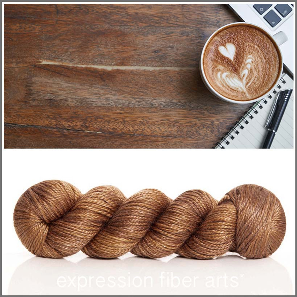 COFFEE 'LUSTER' WORSTED