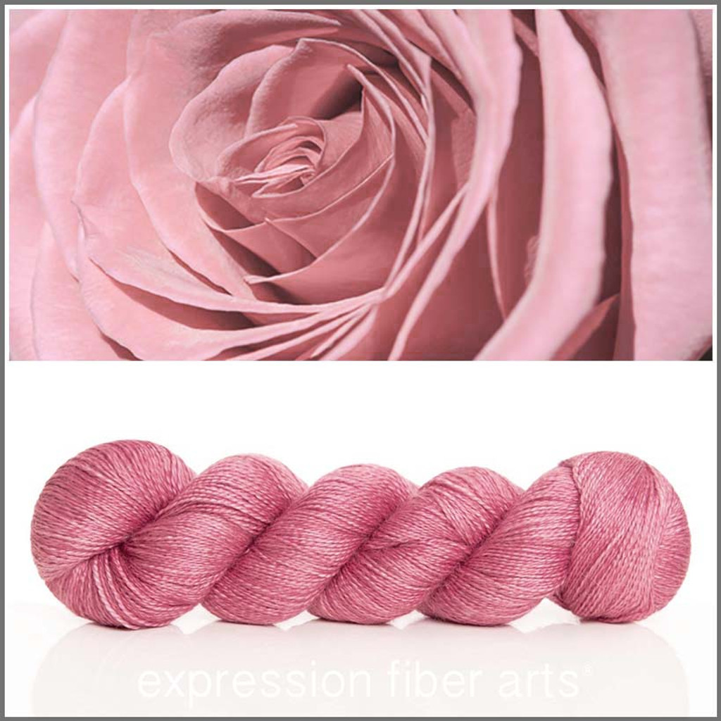 POWDER ROSE ALPACA SILK LACE