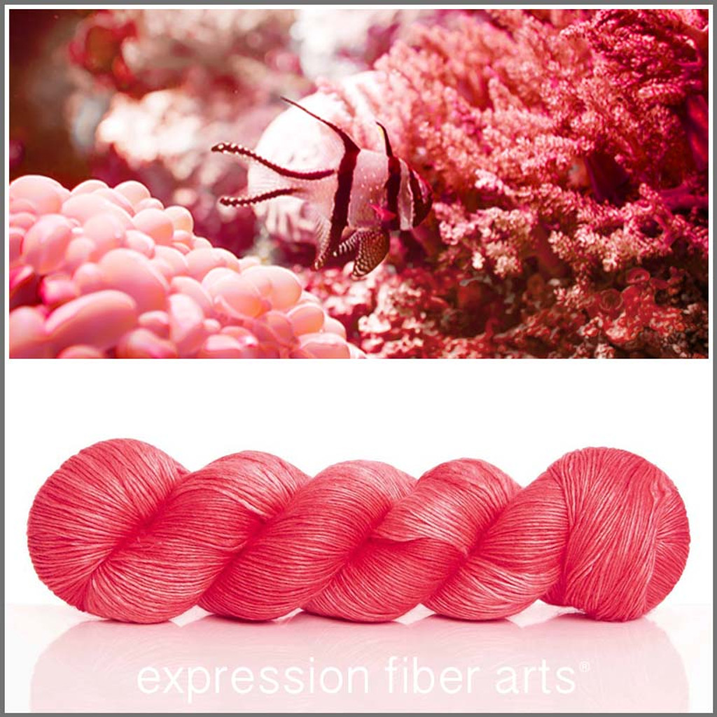 LIVING CORAL 'PEARLESCENT' FINGERING