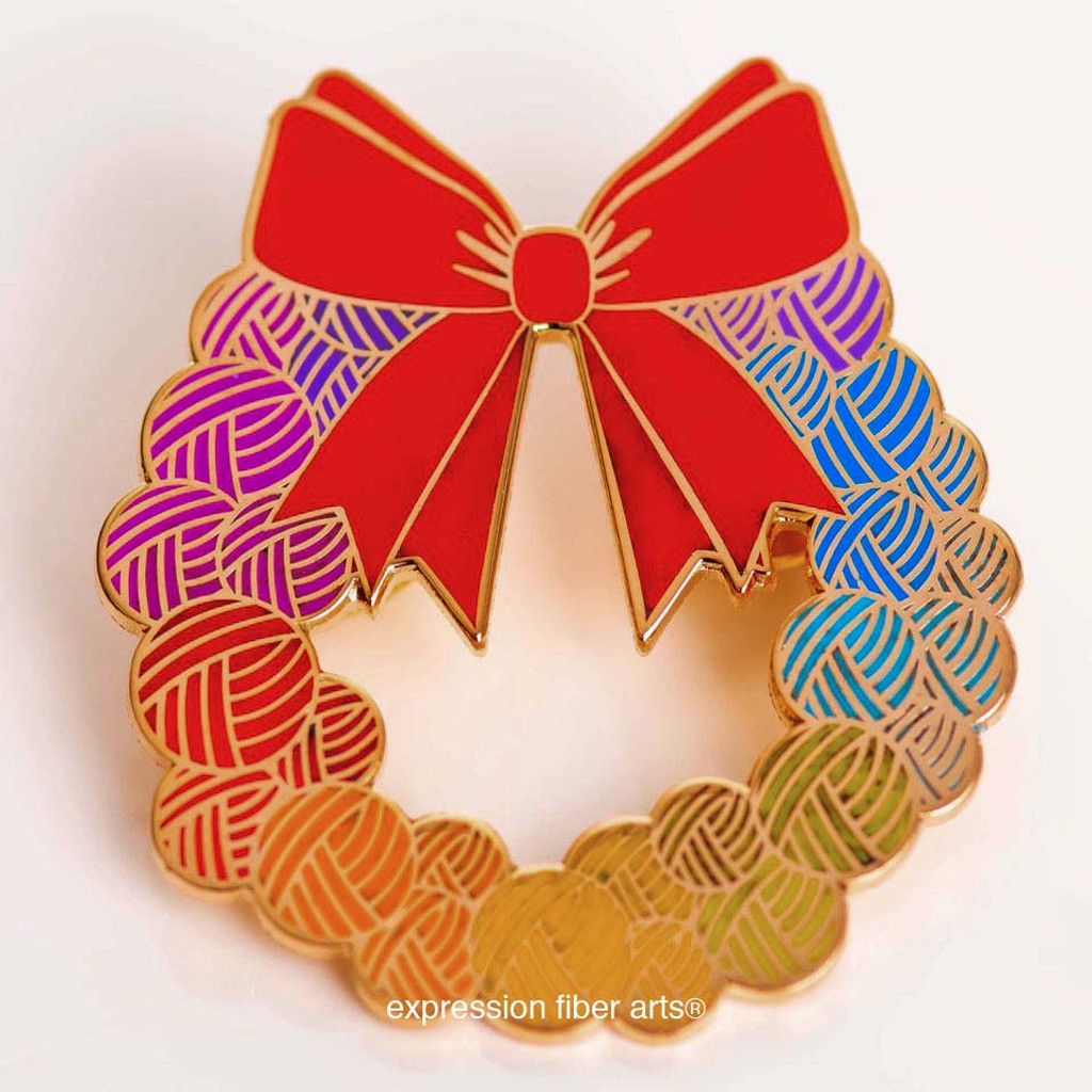 Yarn Wreath Enamel Pin