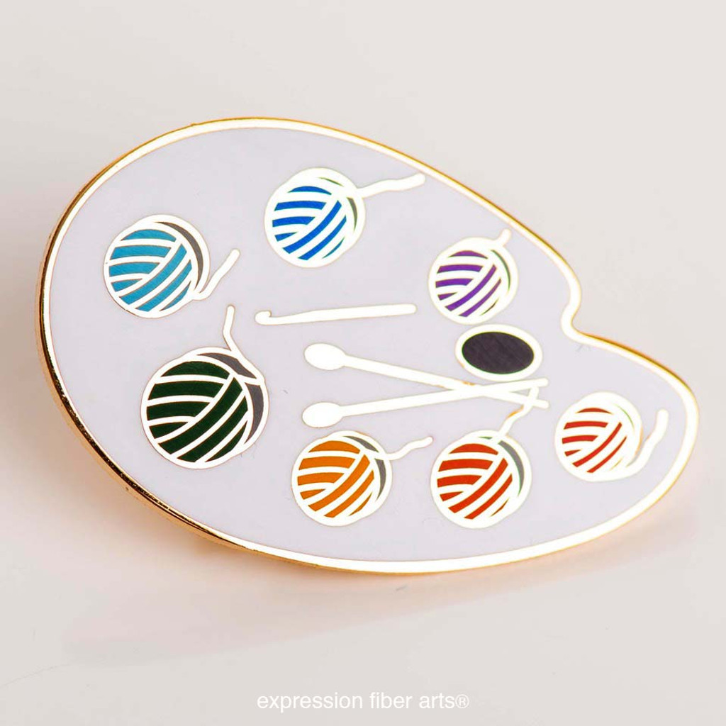 Yarn Paint Palette Enamel Pin
