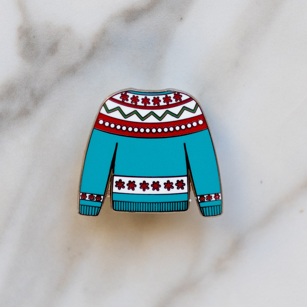 Fairisle Sweater Enamel Pin