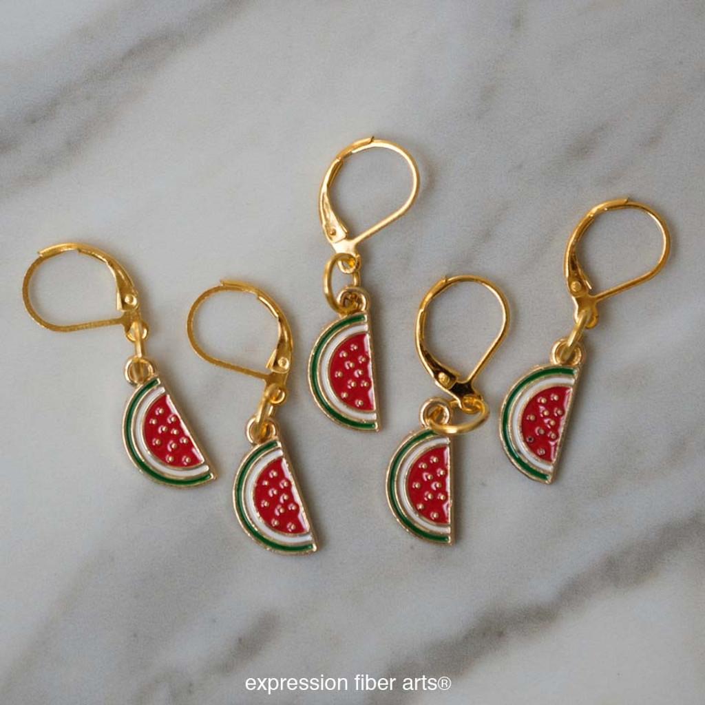 Watermelon Slice Stitch Markers Set of 5