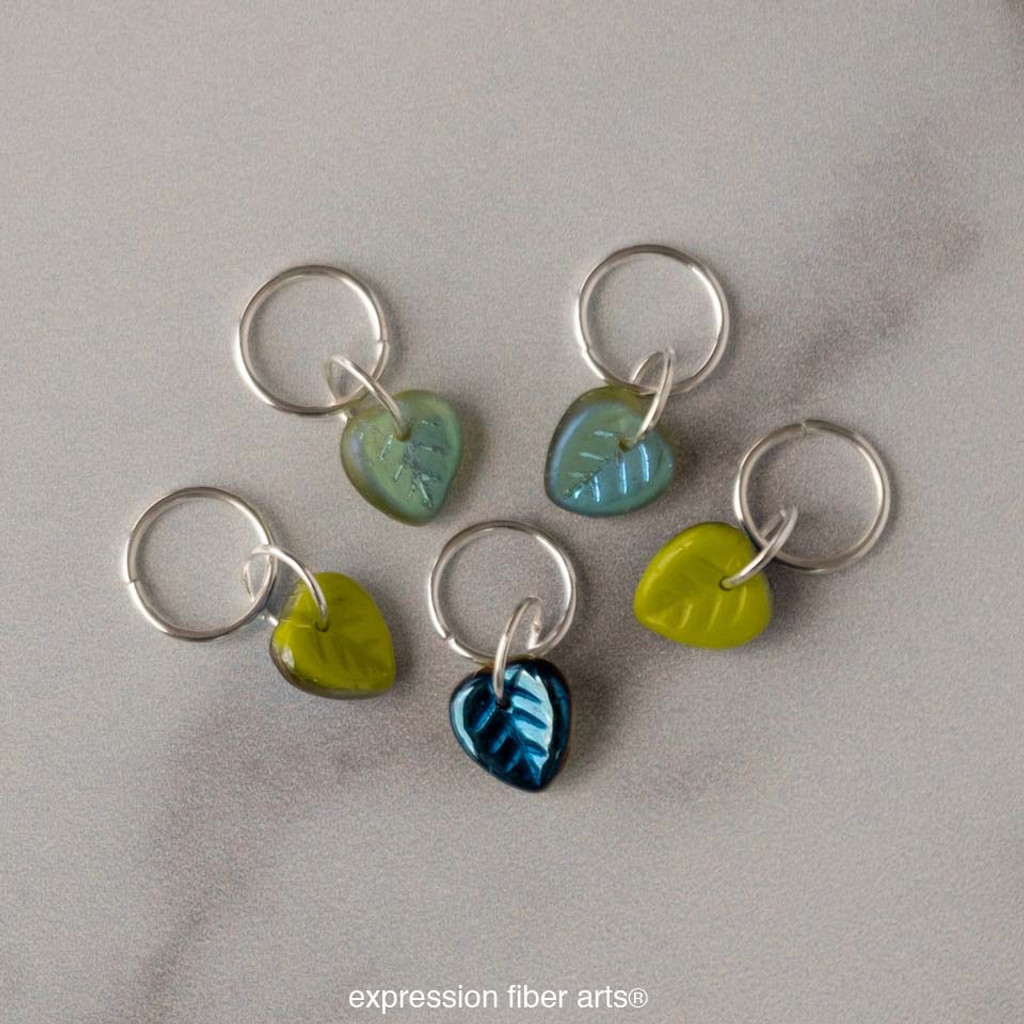 Lovely Leaf Stitch Markers Set of 5