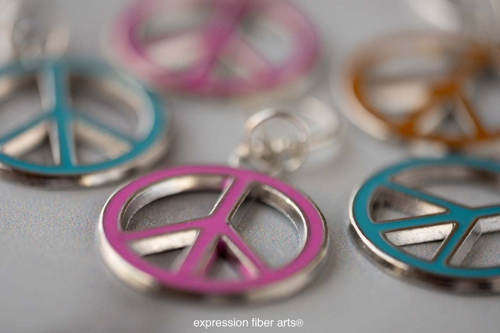 Peace Sign Stitch Markers Set of 5