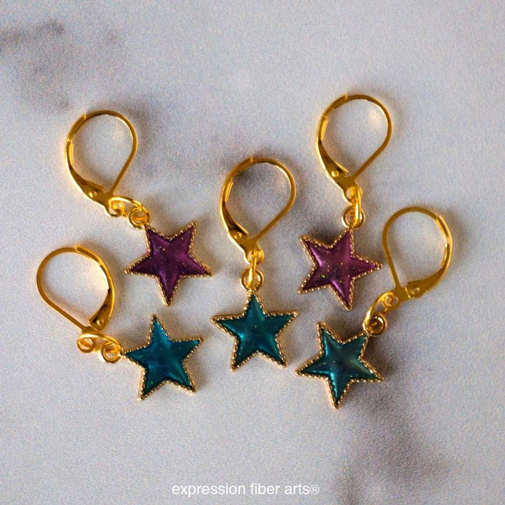 Star Jewels Stitch Markers Set of 5