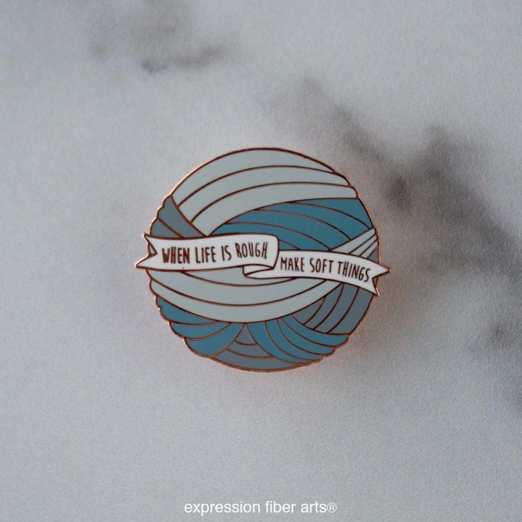 Make Soft Things Yarn Ball Pin