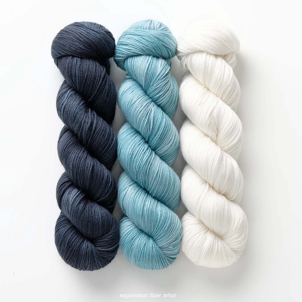 Blue Crystal Hues 'SINCERE' SOCK