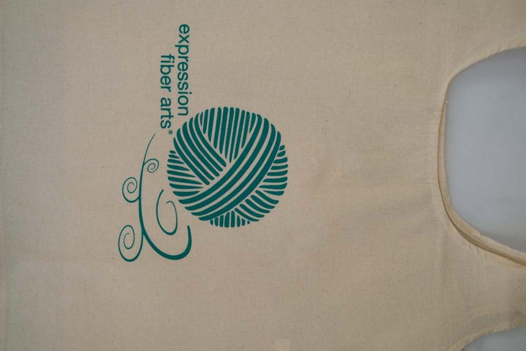 Large Green/Natural Project Bag