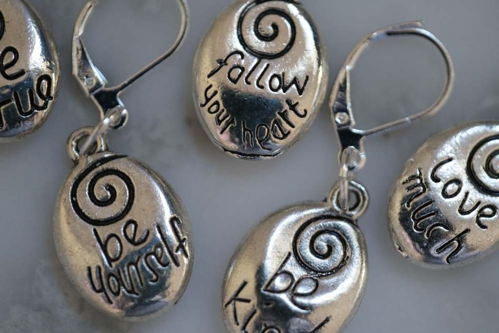 Positive Inspiration Stitch Markers Set of 5